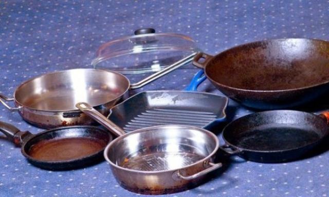 Чистка дачной посуды