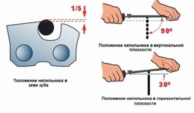 Как правильно и быстро заточить цепь для бытовой бензопилы