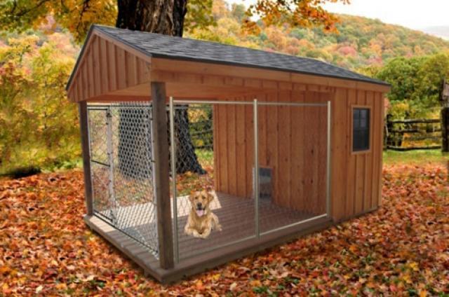 Как просто построить удобный и недорогой вольер для собаки своими руками