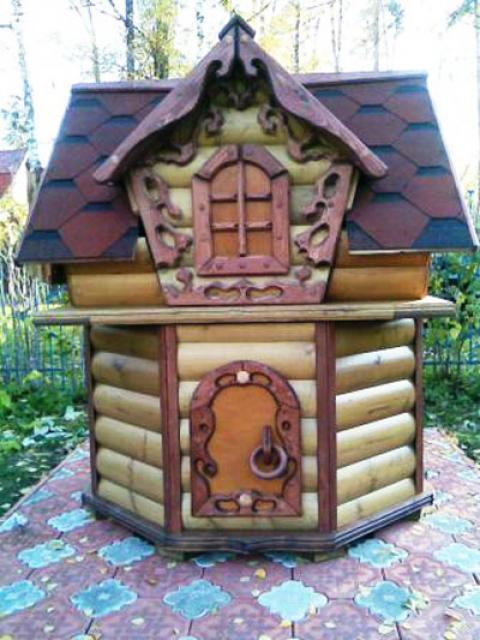 Как самобытно оформить колодец на даче: декоративное этно и контемп