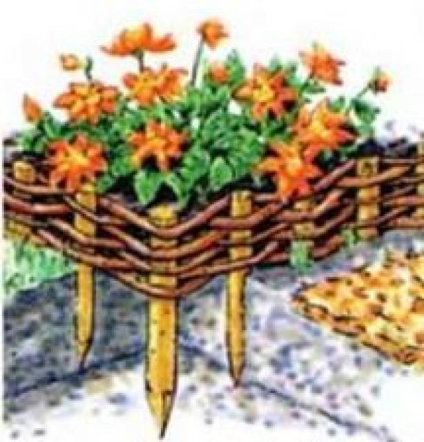 Как сделать декоративный бордюр для клумбы своими руками: 7 способов облагородить цветник