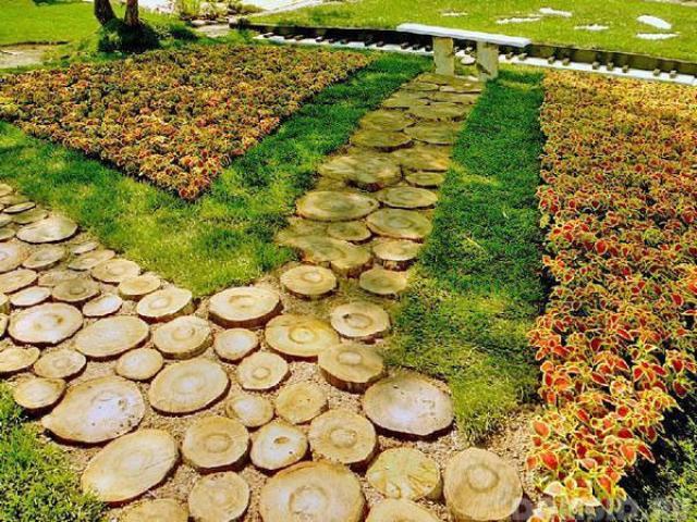 Как сделать деревянные дорожки в саду и на даче своими руками
