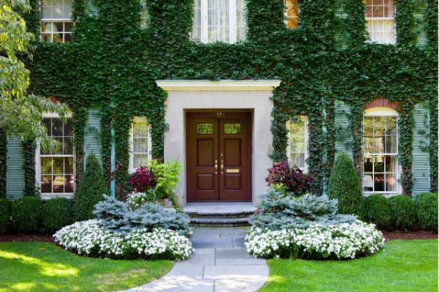 Красивое оформление клумб и цветников возле дома