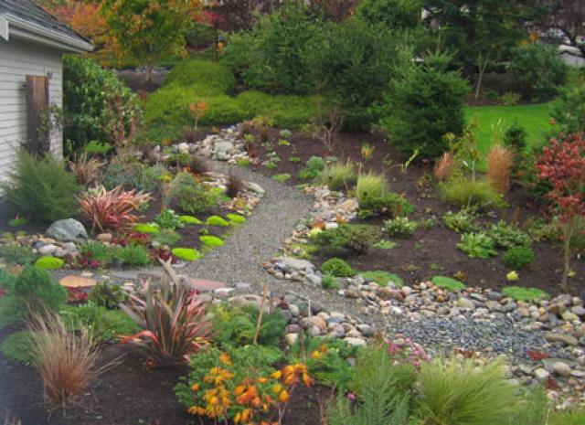 Обустраиваем сухой ручей на дачном участке: 13 вариантов дизайна