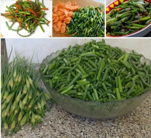 Очень вкусный салат из стрелок чеснока по-корейски!
